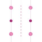 Bright Pink Balloon Fun Strings 1.82m - 6 PC