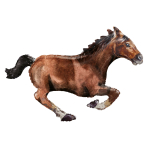 "Galloping Horse SuperShape Foil Balloons 40""/101cm x 25""/63cm P35 - 5 PC"