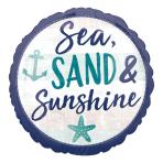 Sea, Sand & Sunshine Standard HX Foil Balloons S40 - 5 PC