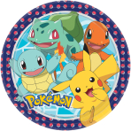 Pokémon Paper Plates 23cm - 6 PKG/8