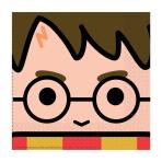 Harry Potter Luncheon Napkins 33cm - 6 PKG/16