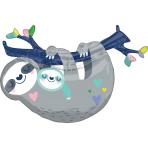 "Mummy & Baby Sloth SuperShape Foil Balloons 36""/91cm x 25""/63cm P35 - 5 PC"
