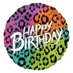 "Wild Child Birthday Jumbo HX Foil Balloons 28""/71cm w x 28""/71cm h P32 - 5 PC"