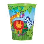 Jungle Animals Plastic Cup    - 8.9cm 12 PC