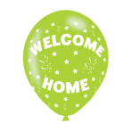 "Welcome Home Assorted Colours Latex Balloons 11""/27.5cm - 10 PKG/6"