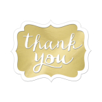Gold Thank You Stickers - 12 PKG/50
