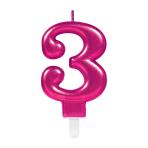 Pink Metallic Finish Candles #3 - 12 PC