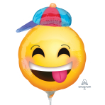 Happy Emoticon with Hat Mini Shape Foil Balloons A30 - 5 PC