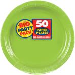 Kiwi Green Paper Plates 23cm - 6 PKG/50