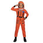 Space Suit Orange Costume - Age 6-8 Years - 1 PC