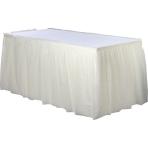 Vanilla Crème Plastic Table Skirts 4.26m x 73cm - 6 PC