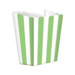 Kiwi Green Candy Buffet Popcorn Treat Boxes - 24 PKG/5