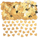 Sparkle Hearts Gold Metallic Confetti 14g - 12 PC