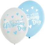 "Christening Blue Latex Balloons 11""/27.5cm - 6 PKG/6"