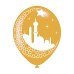 """Eid Latex Balloons 11""""/27.5cm - 6 PKG/6"""