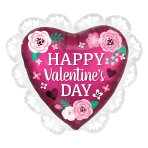 "Happy Valentine's Day Intricates SuperShape Satin Luxe XL Foil Balloons 23""/58cm x 21""/53cm P31 - 5 PC"