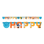Rusty Rivets Happy Birthday Letter Banners 2.1m x 13cm - 6 PC