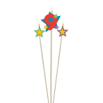 Star Birthday Candles Number 9 - 12.2cm & 13.5cm - 12 PKG/3