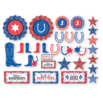 Western Assorted Cut-outs - 12 PKG/30