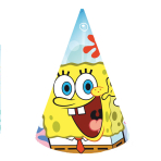 SpongeBob Party Hats - 5 PKG/6