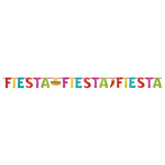 Fiesta Glitter Letter Banners Multi-Colours 3.65m - 6 PC