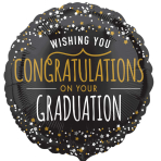 Starry Congratulations Standard Foil Balloons S40 - 5 PC