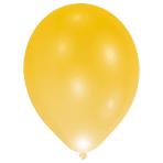 """LED Latex Balloons Gold 11""""/27cm - 12 PKG/5"""