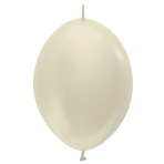 """Satin Link-O-Loon Solid Ivory 473 Latex Balloons 12""""/30cm - 50 PC"""