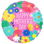 Happy Mother's Day Party Flowers Standard XL Foil Balloons S40 - 5 PC