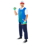 Pokemon Ash Costume - Plus Size - 1 PC