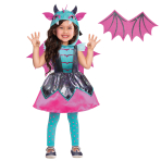 Little Mystic Dragon Costume - Age 8-10 Years - 1 PC