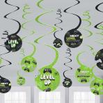 Level Up Swirl Paper Decorations 60cm - 12 PKG/6