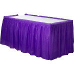 New Purple Plastic Table Skirts 4.26m x 73cm - 6 PC