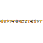 Pirate Party Illustrated Letter Banners 2.1m x 17.7cm - 6 PC