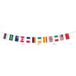 Multi Nations Flag Fabric Bunting    - 5m 6 PKG