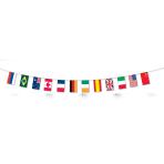 Multi Nations Flag Fabric Bunting    - 5m 6 PKG