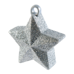 Silver Glitter Star Balloon Weights 170g/6oz - 12 PC
