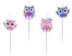 Owls Mini-Figurene Candles - 5 PKG/4