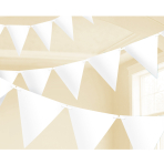 White Paper Pennant Banners 4.5m - 6 PC