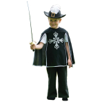 Historical Musketeer Costume - Age 3-5 Years - 1 PC