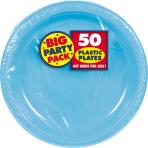 Caribbean Blue Plastic Plates 18cm - 6 PKG/50
