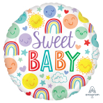 Sweet Baby Icons Standard Foil Balloons S40 - 5 PC