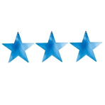 Blue Foil Mini Cutout Stars 12cm - 8 PKG/5