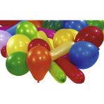 Star Value 15 Assorted Latex Balloons - 12 Packs per Hanging Clip - 12 PKG/15
