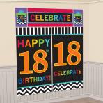 18th Celebrate Scene Setters 165cm 82.5cm - 12 PKG/5