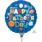 Happy Father`s Day Sports Air-Filled Foil Balloons A15 - 5 PC