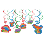 Prehistoric Party Swirls Decorations - 12 PKG/12
