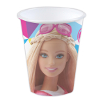 Barbie Sparkle Plastic Favour Cups - 12 PKG