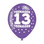 """Teenager 13 Latex Balloons 11""""/27.5cm - 10 PKG/6"""