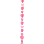 Pink Heart Balloon Tails 1.2m - 5 PC